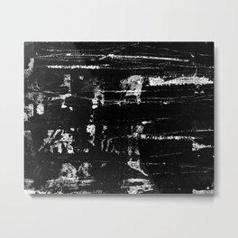 Distressed Grunge 102 in B&W Metal Print