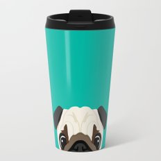 Peeking Pug Travel Mug