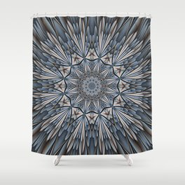 Floral explosion mandala for rejuvenation Shower Curtain