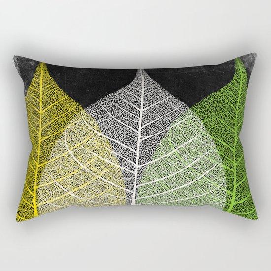 'Natural Dry Leaves' Rectangular Pillow