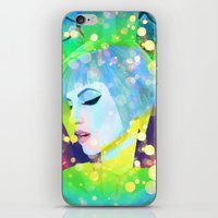 hayley williams iPhone & iPod Skins featuring Digital Painting - Hayley Williams - Variation 2 by EmmaNixon92