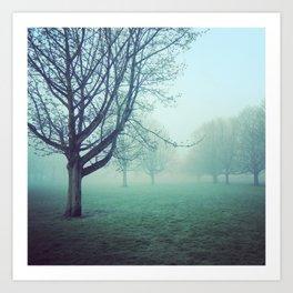 When the fog rolls in Art Print