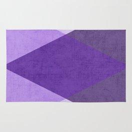 purple triangles Rug