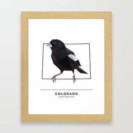 Colorado – Lark Bunting Framed Art Print