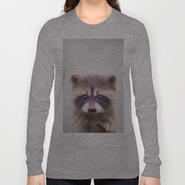 Raccoon - Colorful Langarmshirt