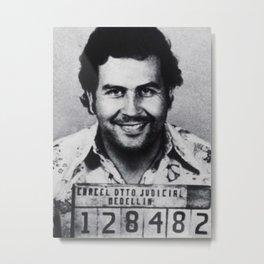 Pablo Escobar Mug Shot 1991 Vertical Metal Print