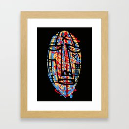 Mask X Framed Art Print