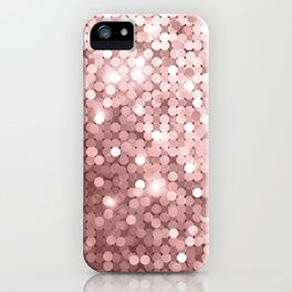 Rose gold glitter iPhone Case