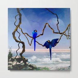 Wonderful blue  parrot Metal Print