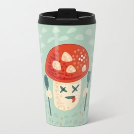 Funny Cartoon Poisoned Mushroom Travel Mug