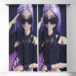Barbie girl at night Blackout Curtain