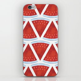 Red Watermelon Pattern iPhone Skin