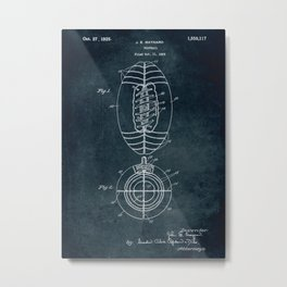 1923 Football patent art Metal Print