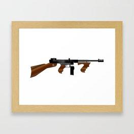 Tommy Gun Framed Art Print