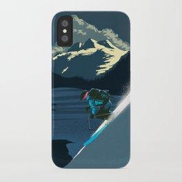 Retro ski iPhone Case