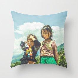 Hmong Innocence Throw Pillow
