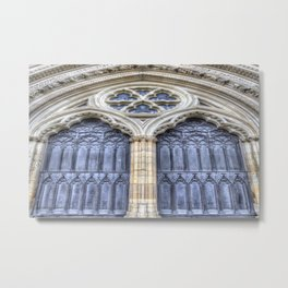 York Minster Door Metal Print
