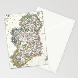 Vintage Map of Ireland (1841) Stationery Cards