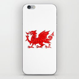 Welsh Dragon With Grunge iPhone Skin