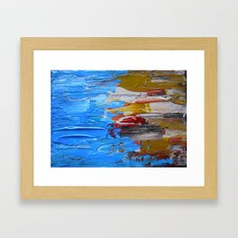 Beach Tide Acrylics On Stretched Canvas Framed Art Print