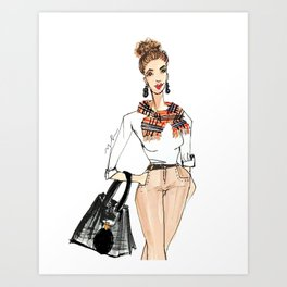 Fall Print, Fashion Print, Fashion Illustration Print, Pinales Illustrated Art Print