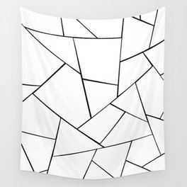 Black White Geometric Glam #1 #geo #decor #art #society6 Wall Tapestry