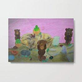 Three Monkey's Metal Print