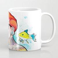 ariel Mugs featuring Ariel by Daniel Savoie