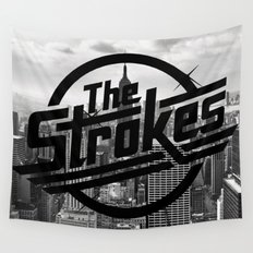 The Strokes Logo New York Black And White Wall Tapestry