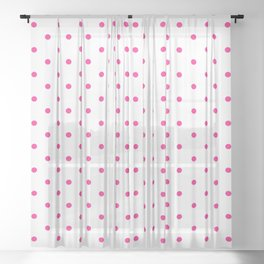 Dotted (Rose & White Pattern) Sheer Curtain