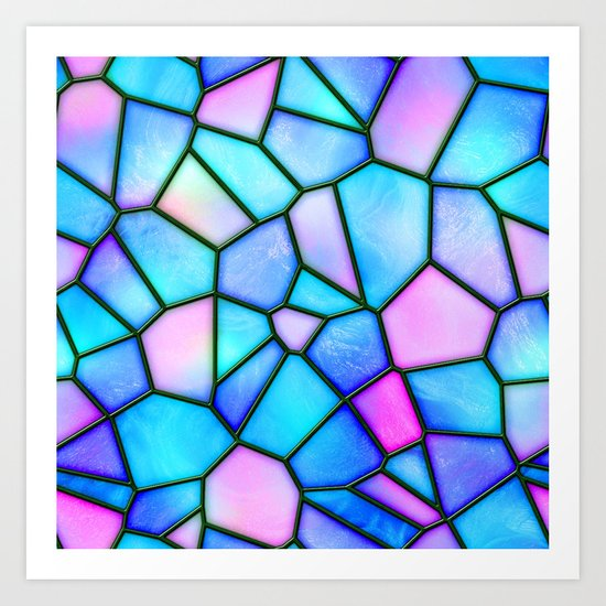 pastel stained glass Art Print