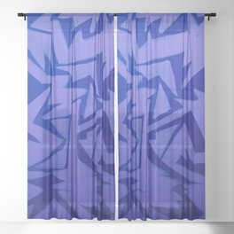Electric Pop Sheer Curtain