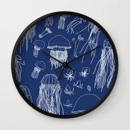 Jellies (Blueprint) Wall Clock