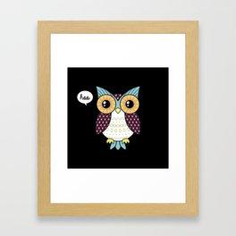 Fancy owl Framed Art Print