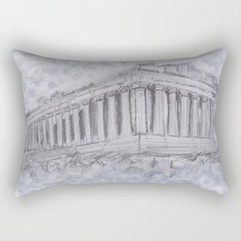 Illustartion of the Parthenon Rectangular Pillow