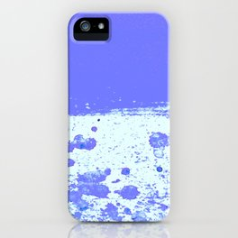 Ink Drop Blue iPhone Case