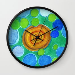 Stones under Water Wall Clock