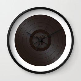 Black Vinyl record Wall Clock