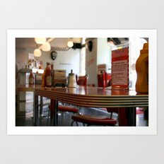 American Diner in London Art Print