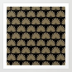 Tan & Black Daisies Art Print