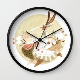 Flowers with Mom Wall Clock