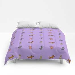 small dogs 2. art Comforters