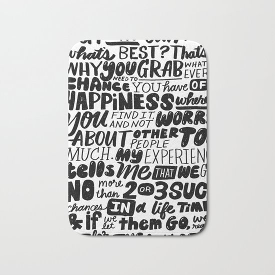 who can say what's best? Bath Mat