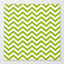 Simple Chevron Pattern - Apple Green & White - Mix & Match with Simplicity of Life Canvas Print