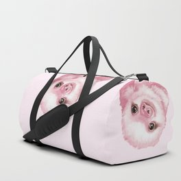 Baby Sloth Pink Duffle Bag