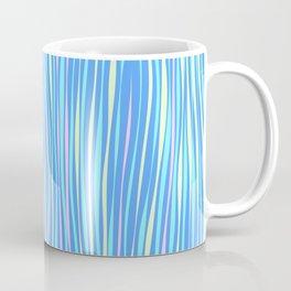 Colorful stripes over blue Coffee Mug