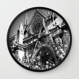 Blossoms, Spires and Gargoyles Wall Clock