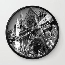 Blossoms, Spires and Gargoyles Wall Clock