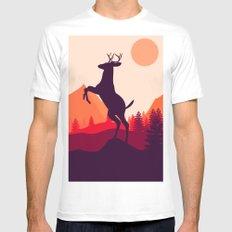 Wake up of Deer Mens Fitted Tee White MEDIUM