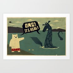 Yeti meets Nessie Art Print